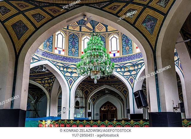 Interior of holy shrine of Imamzadeh Helal Ali (Hilal ibn Ali) in Aran va Bidgol, Isfahan Province in Iran