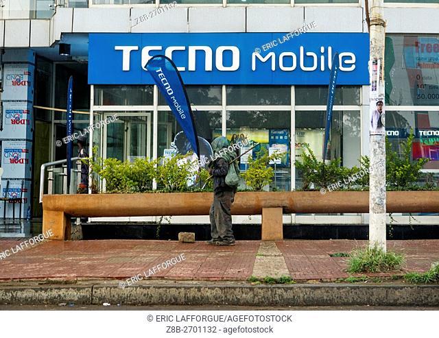 Ethiopia, Addis Abeba Region, Addis Ababa, techno mobile phones shop