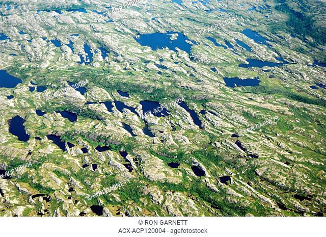 aerial,why they call it 'The Rock', Roddickton, Newfoundland