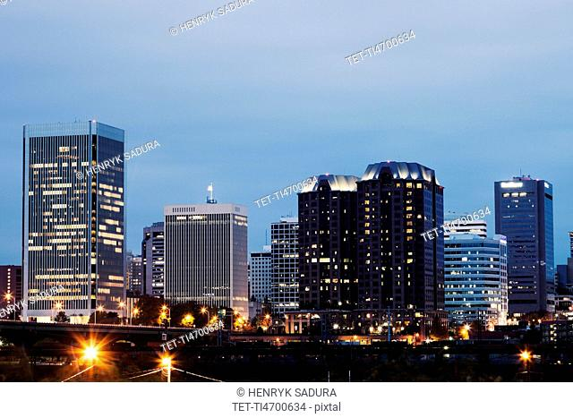Cityscape at evening