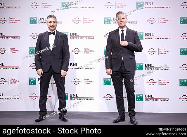 Evgeny Afineevsky, Juan Carlos Cruz during the photocall of movie' Francesco' at the 15th Rome Film Festival, Rome, ITALY-21-10.-2020