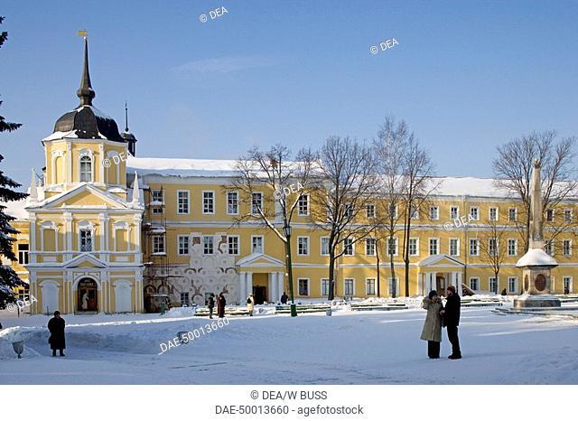 Russia - Golden Ring - Sergiev-Posad. Trinity Sergius Lavra (Troitse-Sergiyeva Lavra, founded 14th century, UNESCO World Heritage List, 1993)