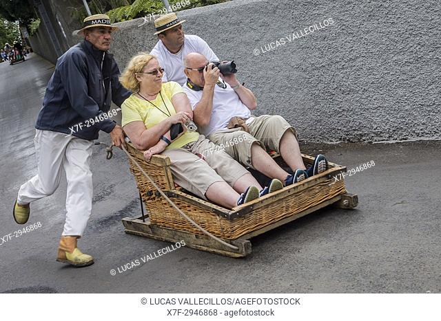 Carreiros do Monte, Wicker Toboggan Sled Ride from Monte to Funchal, Funchal, Madeira, Portugal