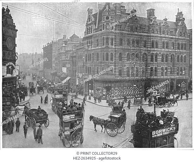 Tottenham Court Road corner, London, c1903 (1903). Artist: Unknown