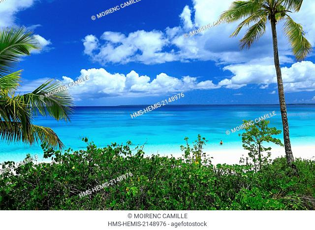 France, New Caledonia, the Loyalty Islands, Lifou, Wetr District, Peng tribe beach