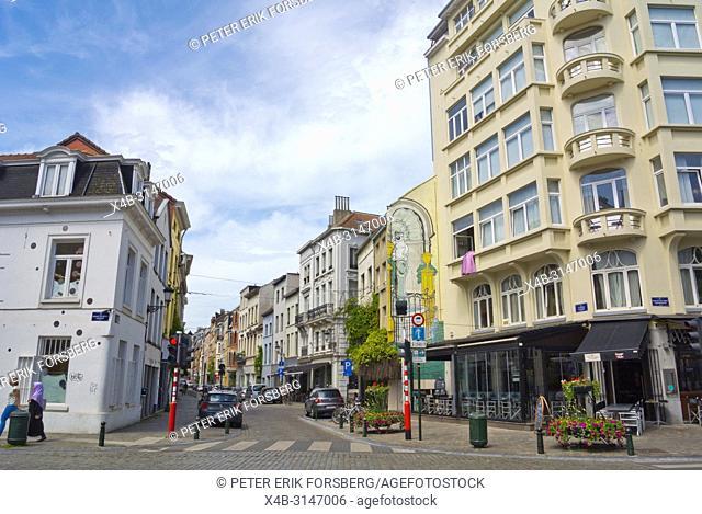 Rue de Flandre, Vlaamsestraat, Senne district, Brussels, Belgium