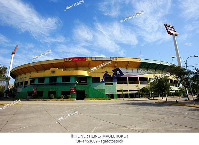 Estadio Nacional, concentration camp for political prisoners during the Pinochet dictatorship, Santiago de Chile, Chile, South America