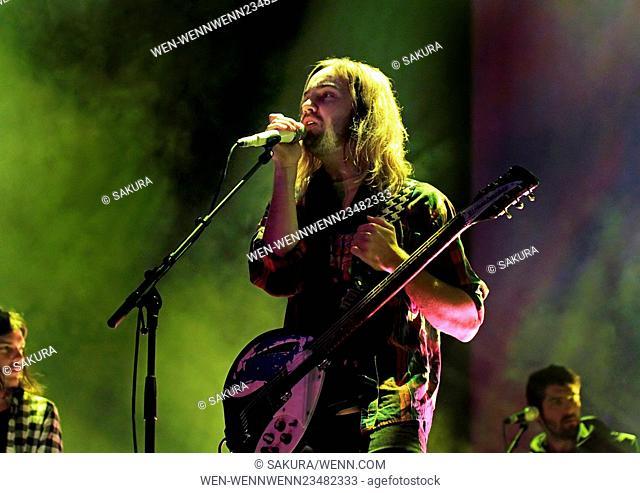 Tame Impala Performing at Manchester Arena Featuring: Tame Impala, Kevin Parker Where: Manchester, United Kingdom When: 11 Feb 2016 Credit: Sakura/WENN
