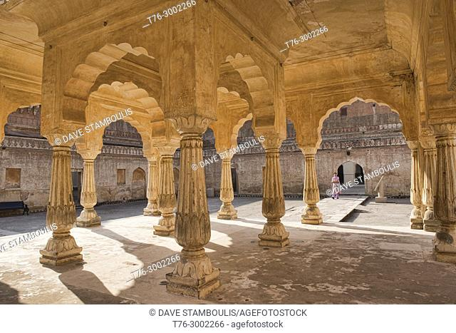 Arched pavilion at the Amer Fort, Jaipur, India
