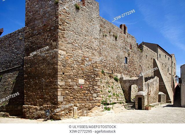 Castle, Giglio Castello village, Giglio Island, Tuscan archipelago, Tuscany, Italy, Europe