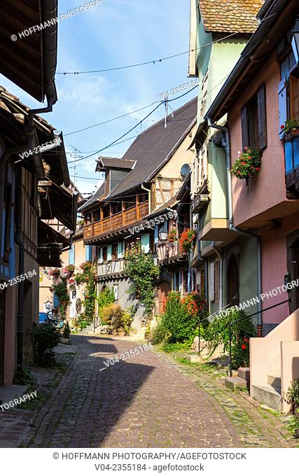 The picturesque village of Eguisheim, Alsace, France, Europe