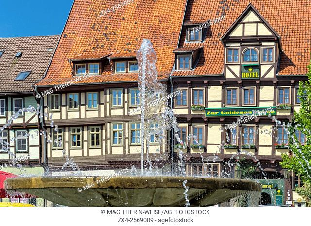 Half-timbered houses, Quedlinburg, Harz, Saxony-Anhalt, Germany, Unesco World Heritage Site