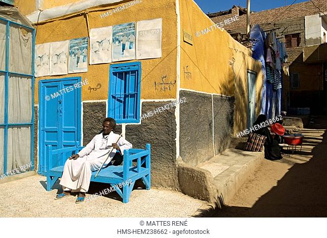 Egypt, Upper Egypt, Nubia, Nile Valley, Elephantine Island, Nubian village