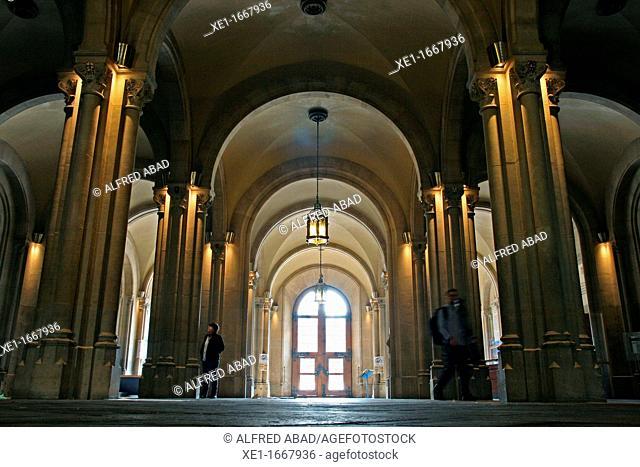 lobby of Central University, 1889, architect: Rogent Elias, Barcelona, Catalonia, Spain