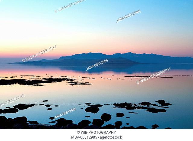 Sundown, Antelope Island, Great Salt Lake, Utah