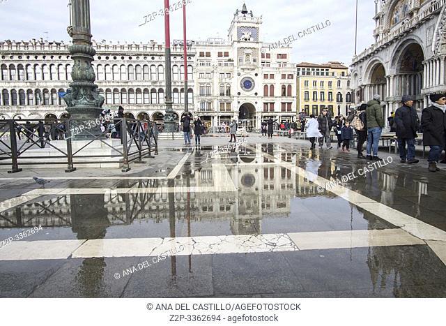 Venice Veneto Italy on January 21, 2019: St Marks square