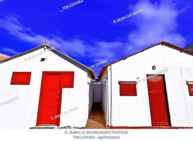 spain,canary islands, la palma : la lajita : houses