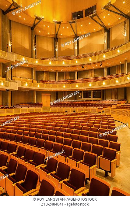 Seating in the Chan Centre on the campus of UBC in Vancouver