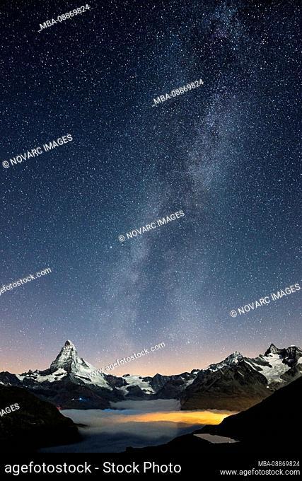Milky Way over the Matterhorn, Switzerland