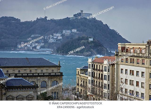 La Concha Bay, San Sebastian, Donostia, , Basque Country, Spain
