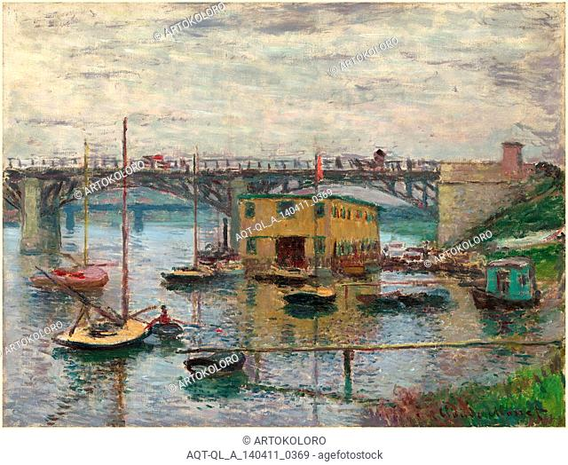 Claude Monet, Bridge at Argenteuil on a Gray Day, French, 1840-1926, c. 1876, oil on canvas