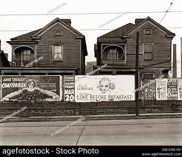 Frame Houses and Billboards