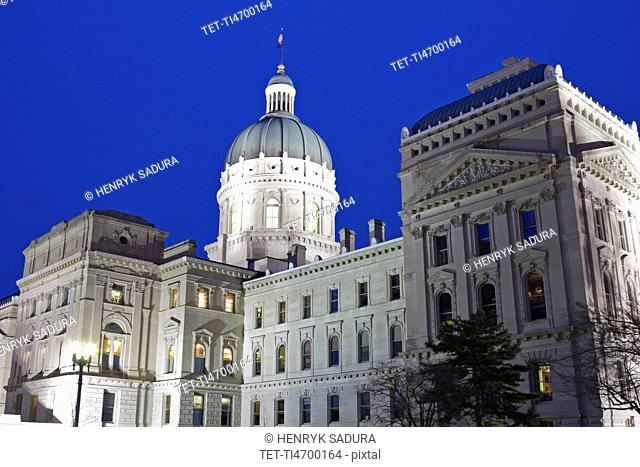 USA, Indiana, Indianapolis, State Capitol Building