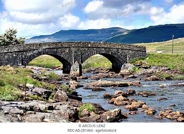 Stone bridge, crossing, Finnfort and Siing, Isle of Mull, Scotland