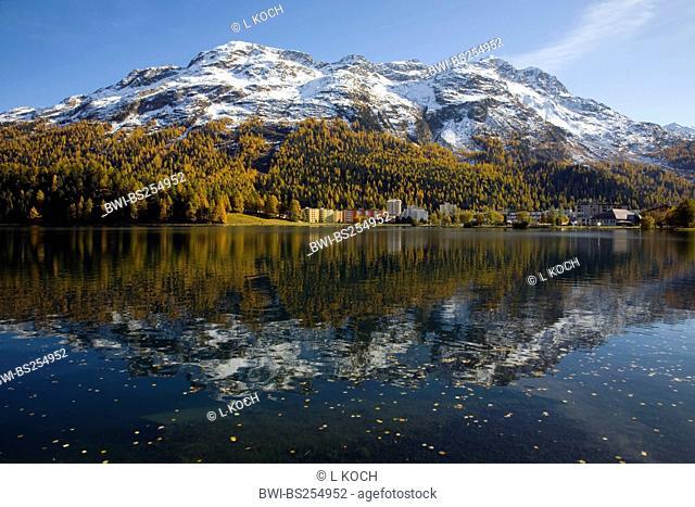 Lake St. Moritz, Switzerland, Graubuenden, Engadine, St. Moritz