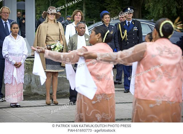 Queen Maxima of The Netherlands attends the 50th jubilee of the Moluccan community organized by Jajasan foundation in Alphen aan de Rijn, The Netherlands