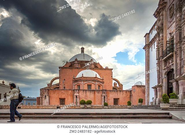 View of Cathedral of city from back side. Zacatecas, ZAC. Mexico
