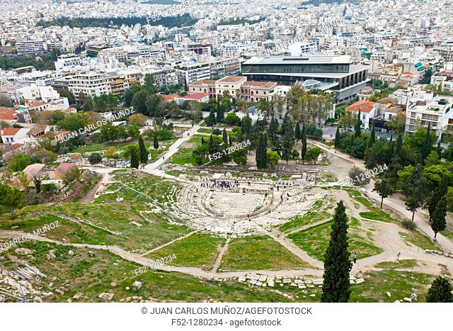 Theater of Dionysus and the Acropolis Museum New View from the Acropolis Athens, Greece