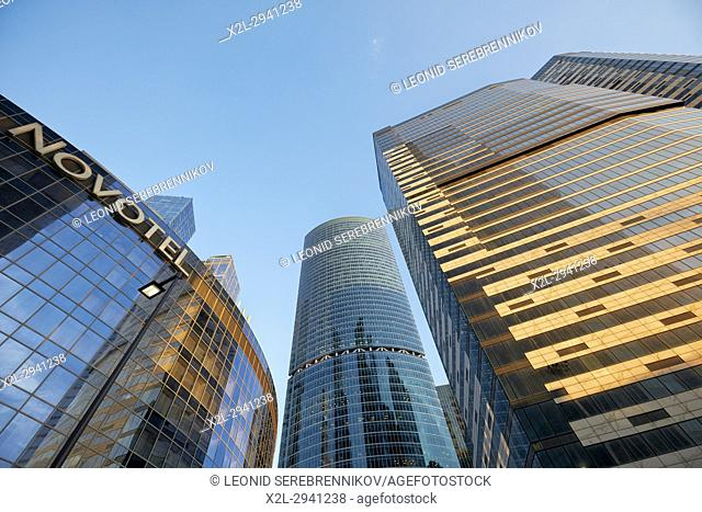 """Highrise buildings of the Moscow International Business Centre (MIBC), also known as """"Moscow City"""""""". Moscow, Russia"""