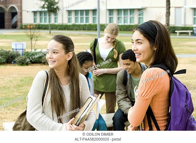 High school students together after school