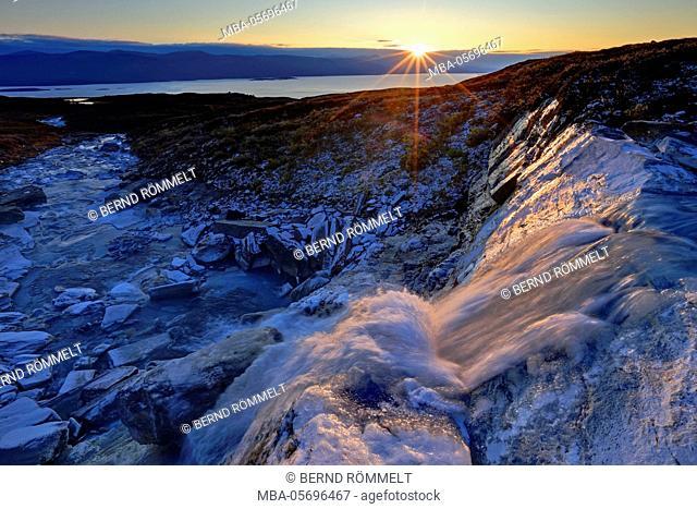 Europe, Sweden, Lapland, province of Norrbotten, Abisko national park, waterfall