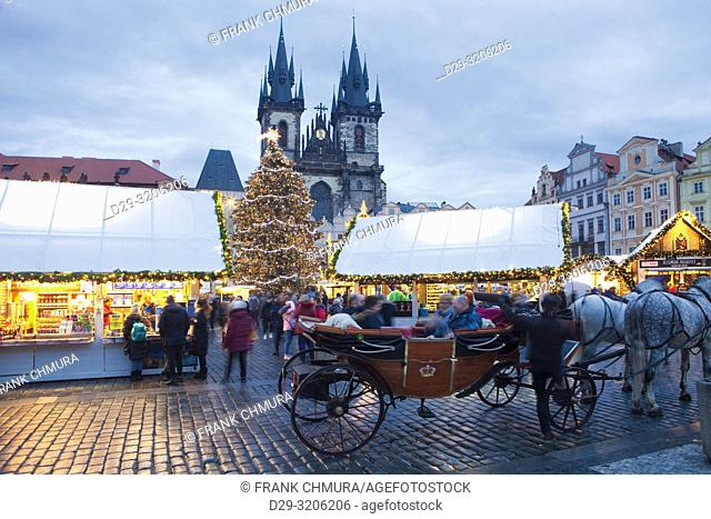 Prague - The Old Town Square Christmas Market and Tyn Church