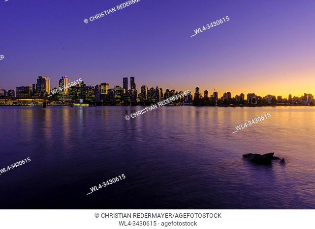 Beautiful Vancouver during the blue hour