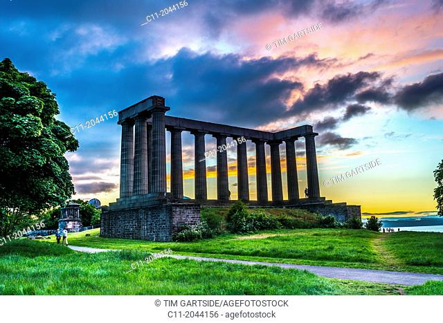 Scottish National Monument, edinburgh,scotland,uk,europe