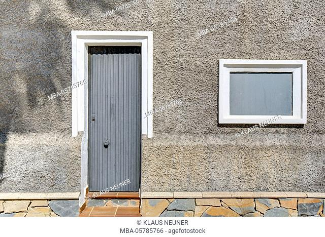 Front door, house wall, architecture, Rota, Costa de la Luz, Andalusia, Spain, Europe