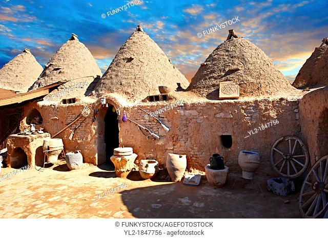 Pictures of the beehive adobe buildings of Harran, south west Anatolia, Turkey Harran was a major ancient city in Upper Mesopotamia Turkey