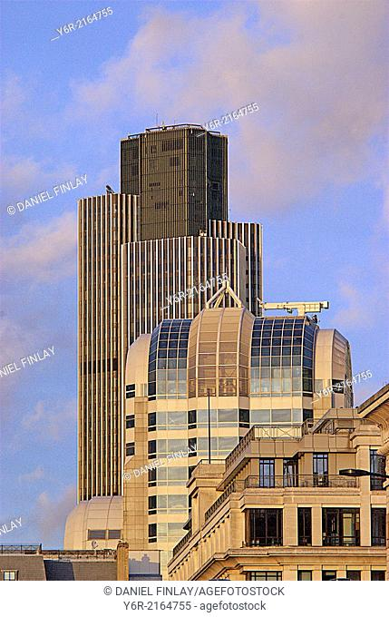 Office buildings in the City of London international business district in London, UK
