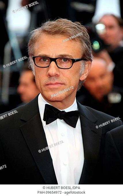 """Actor Christoph Waltz attends the premiere of """"""""Inside Llewyn Davis"""""""" during the the 66th Cannes International Film Festival at Palais des Festivals in Cannes"""