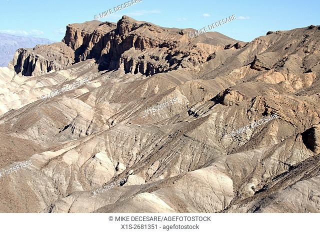 Zabriskie Point landscape in Death Valley