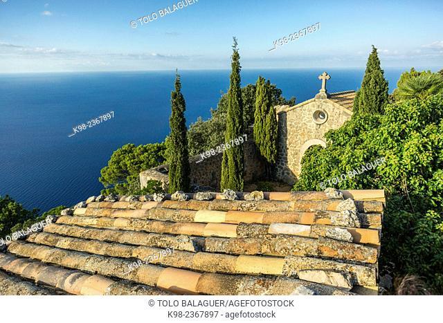 Ermita de la Trinitat, XVIII century. Valldemossa. Sierra de Tramuntana. Mallorca. Balearic Islands. Spain