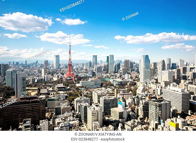 Tokyo Tower cityscape Japan