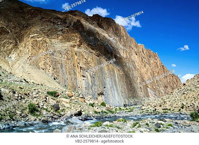 Markha river. Trekking in Markha valley (Laddakh, India)