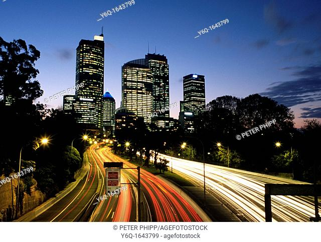 City of Sydney Australia at night