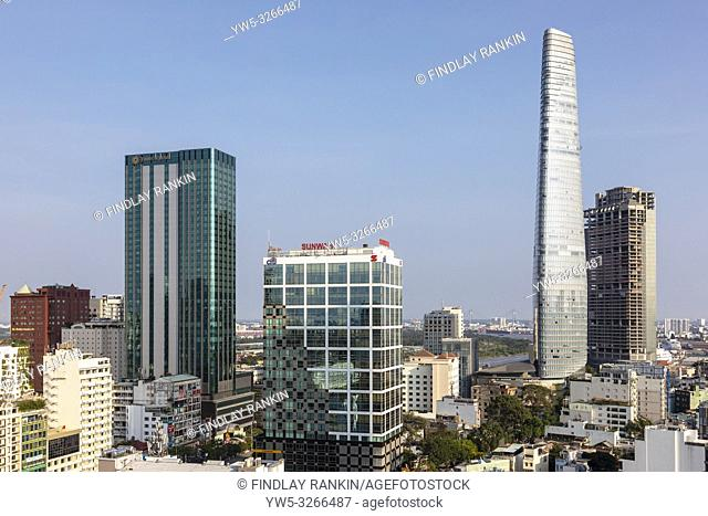 Sky line at Ho Chi Minh city, Saigon, Vietnam, Asia,