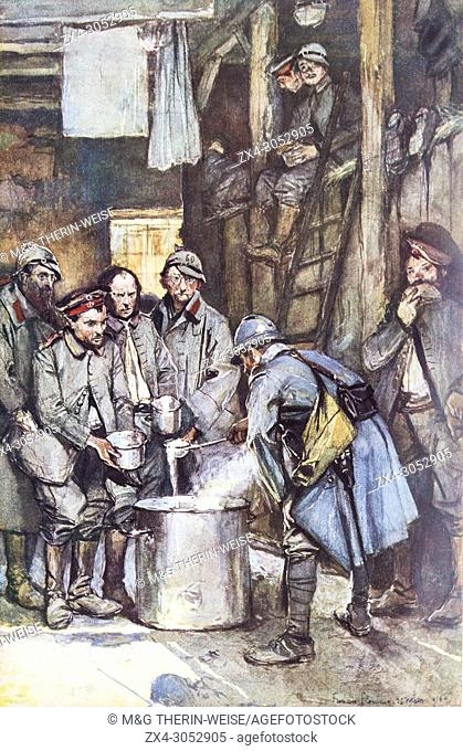German prisoners at Souville near Verdun, Meuse Department, 1916, France