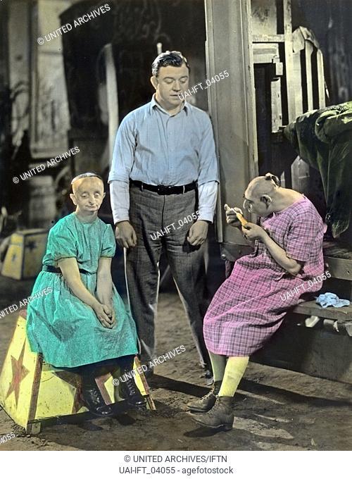 Freaks, USA 1932, Regie: Tod Browning, Darsteller: Minnie Woolsey, Wallace Ford, Schlitzie